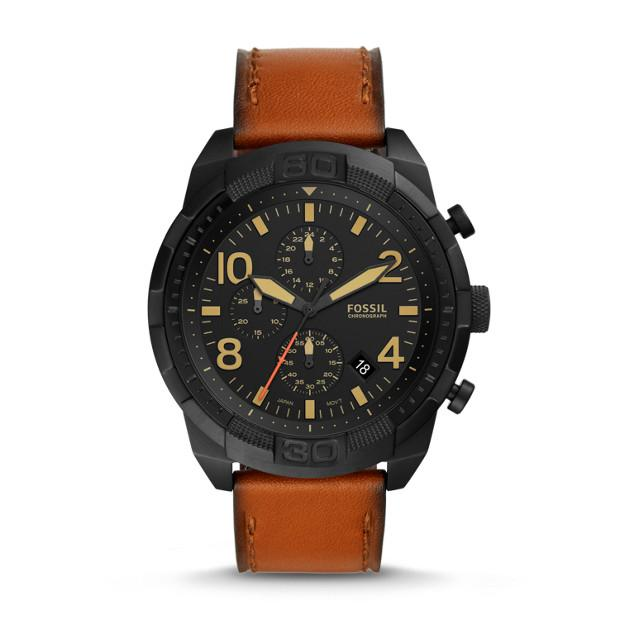 Fossil Bronson Brown Chronograph Watch Watches Fossil