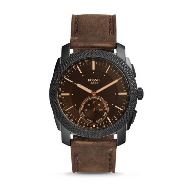 Fossil Q Machine Brown Hybrid Smartwatch Watches Fossil