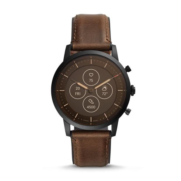 Fossil Collider Hybrid Hr Brown Smartwatch-FTW7008 Watches Fossil