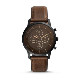 Fossil Collider Hybrid Hr Brown Smartwatch-FTW7008