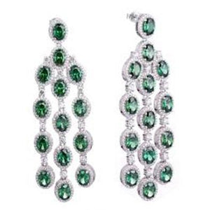 Gina Liano Green with Envy Chandelier Earrings