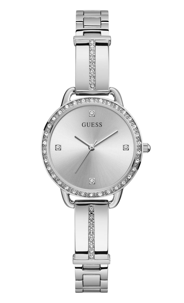 Guess Bellini Silver Tone Stainless Steel Watch GW0022L1 Watches Guess