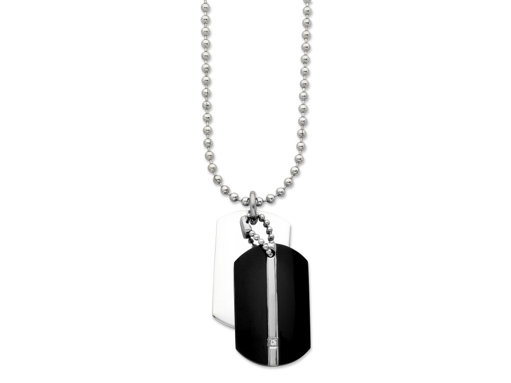 Stainless Steel Men's Dogtags Necklace