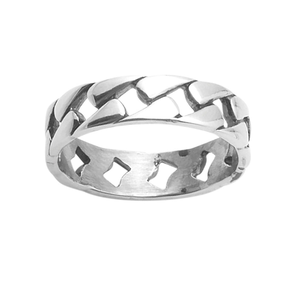 Men's Cub Link Ring in Stainless Steel Rings Bevilles
