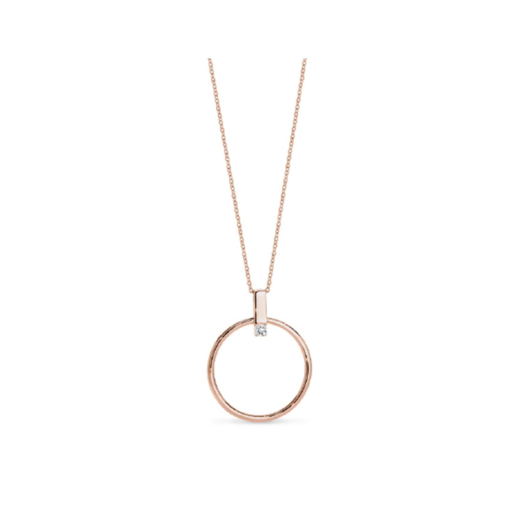 Georgini Delta Rose Gold Necklace Necklaces Georgini