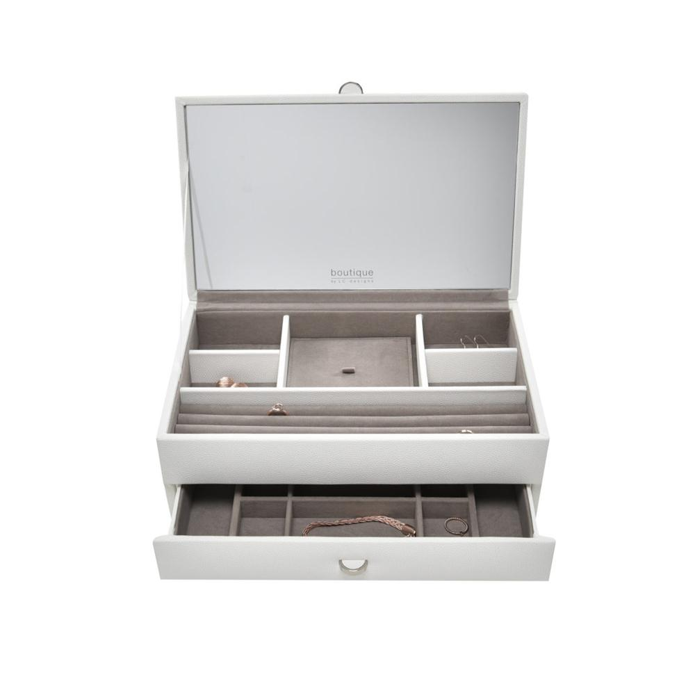 Boutique Jewellery Box - Medium with 1 Drawer & Internal Mirror