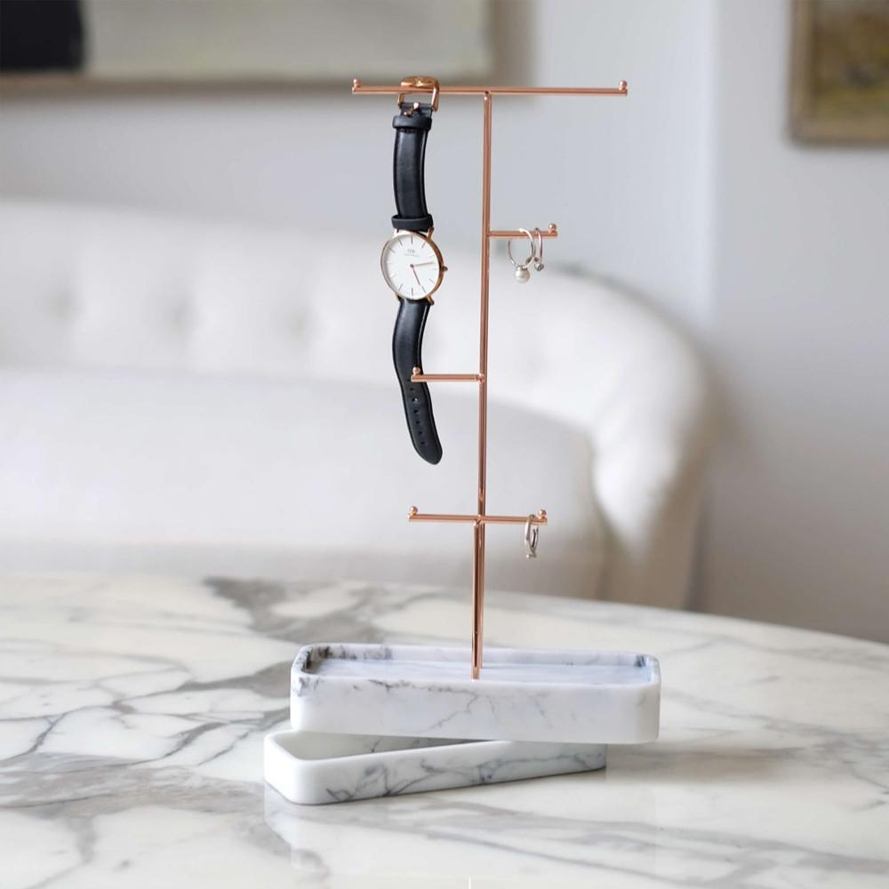Stackers Marble Jewellery Hanger with Removable Base