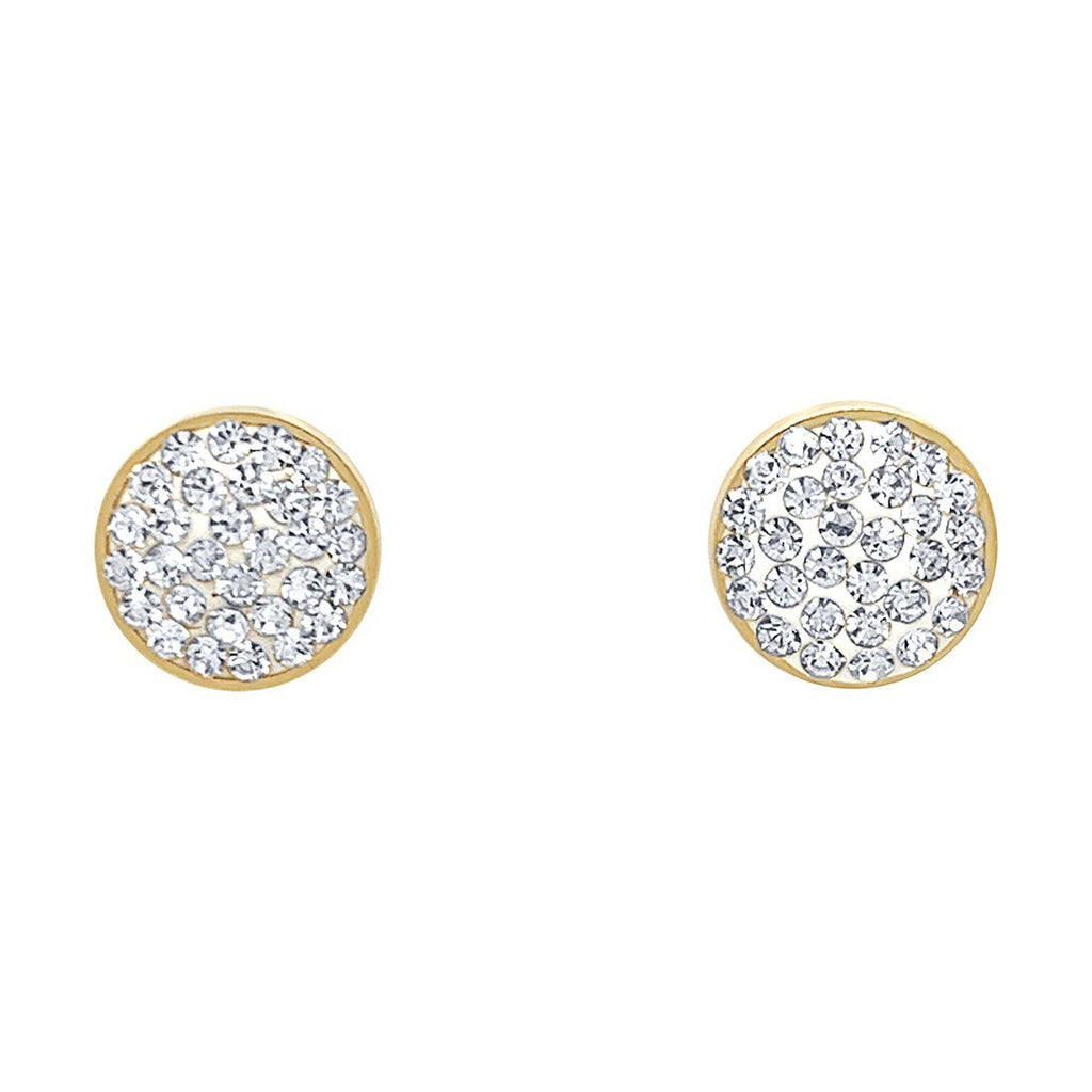 Crystal Disc Yellow Stainless Steel Earrings Earrings Bevilles