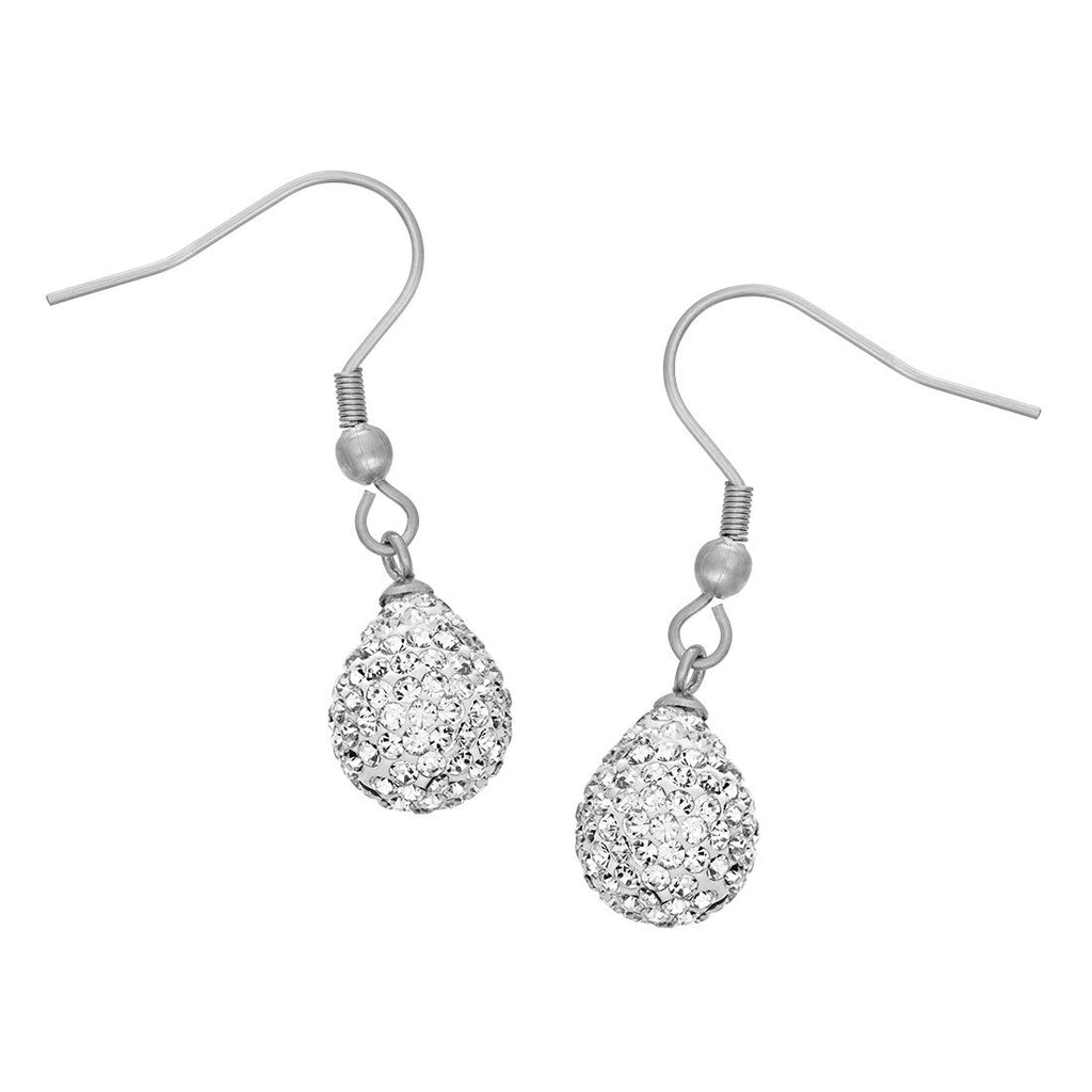 Crystal Teardrop Earrings in Stainless Steel Earrings Bevilles