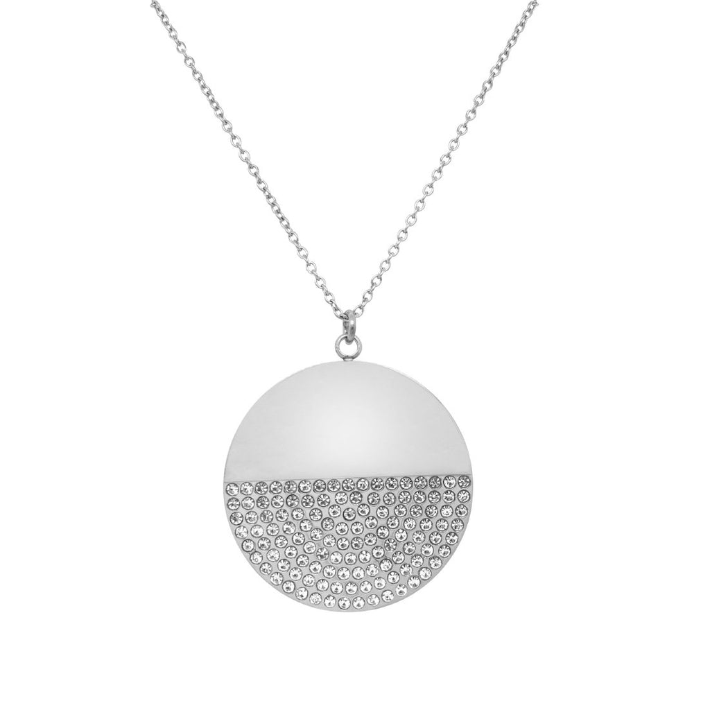 Stainless Steel Pave Crystal Necklace 70cm Necklaces Bevilles