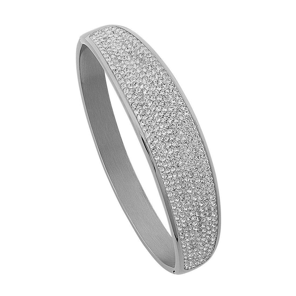 Stainless Steel Pave Bangle