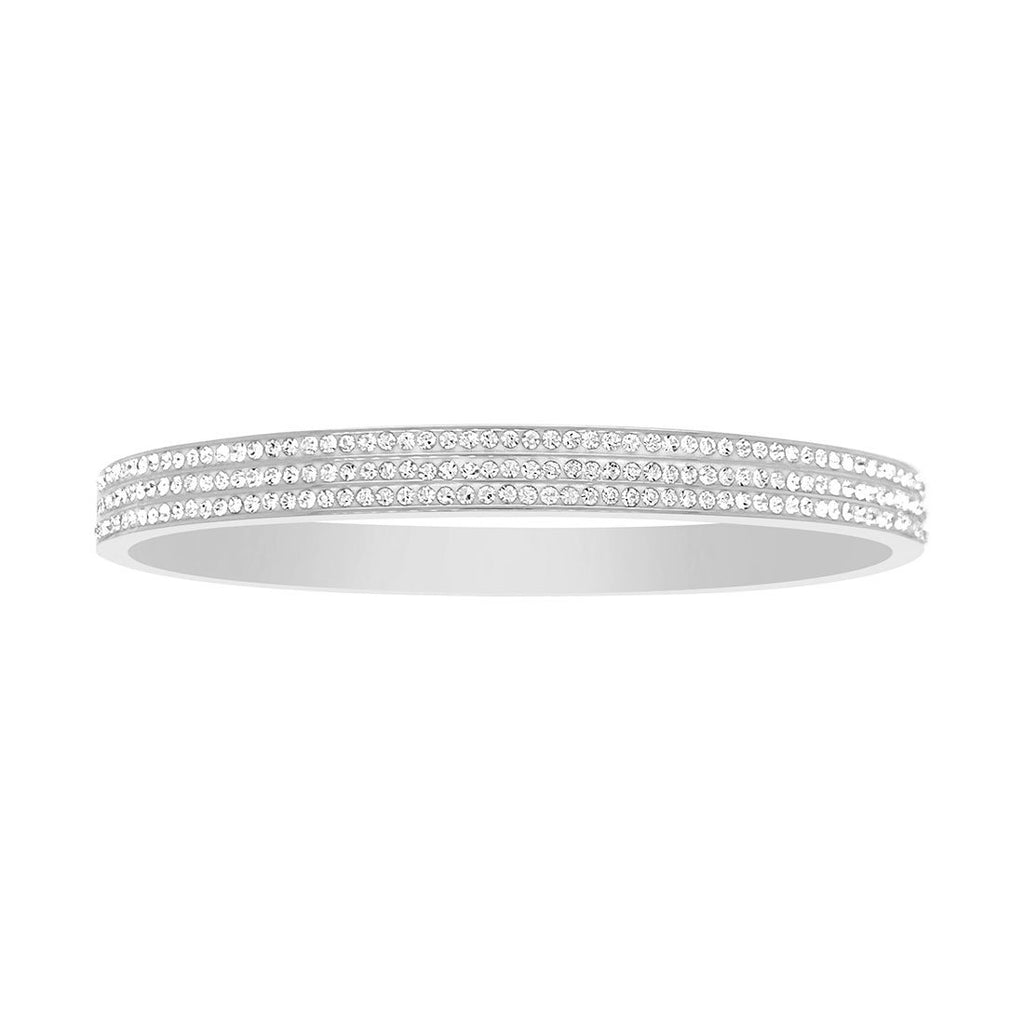 Stainless Steel Pave Crystal Bangle Bracelets Bevilles