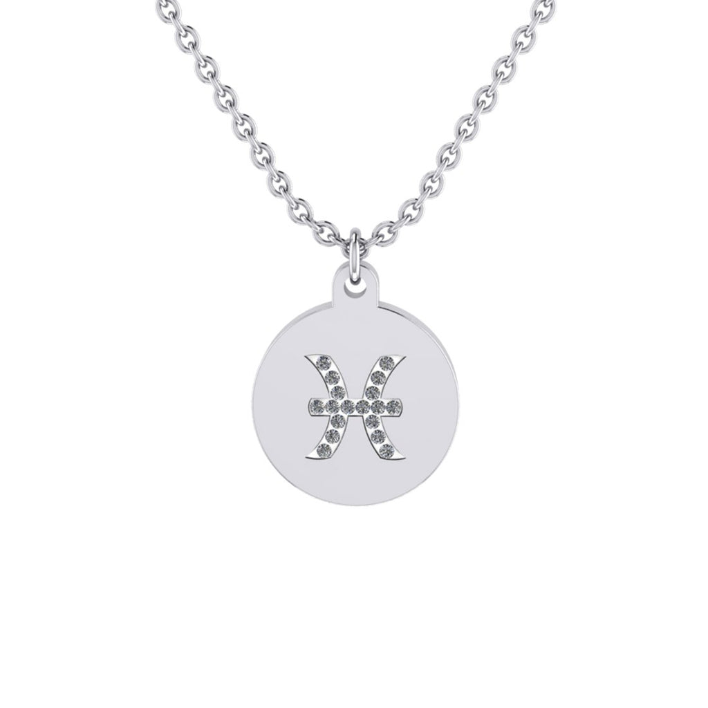 Pisces Zodiac Necklace in Stainless Steel Necklaces Bevilles