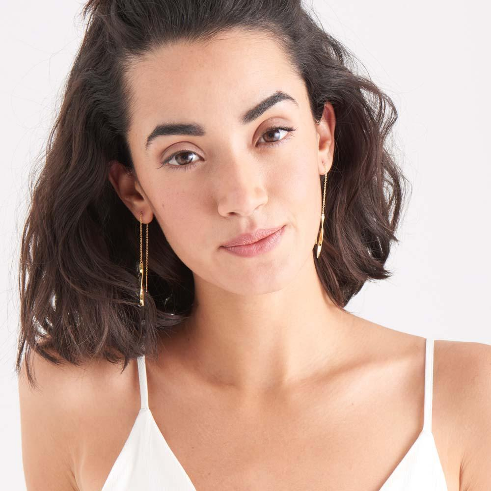 Ania Haie Helix Threader Earrings - Gold Earrings Ania Haie