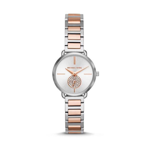 Michael Kors Portia Two Tone Analogue Watch Watches Michael Kors