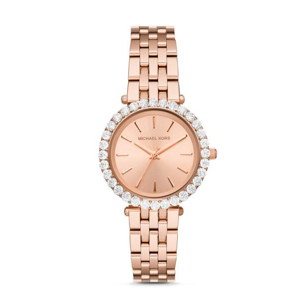 Michael Kors Darci Rose Gold-Tone Analogue Watch Watches Michael Kors