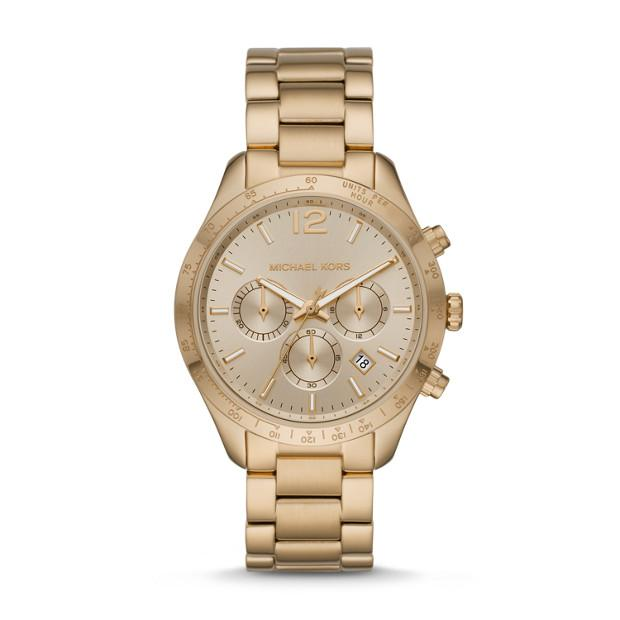 Michael Kors Layton Gold-Tone Chronograph Watch