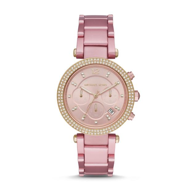 Michael Kors Parker Pink Chronograph Watch Watches Michael Kors
