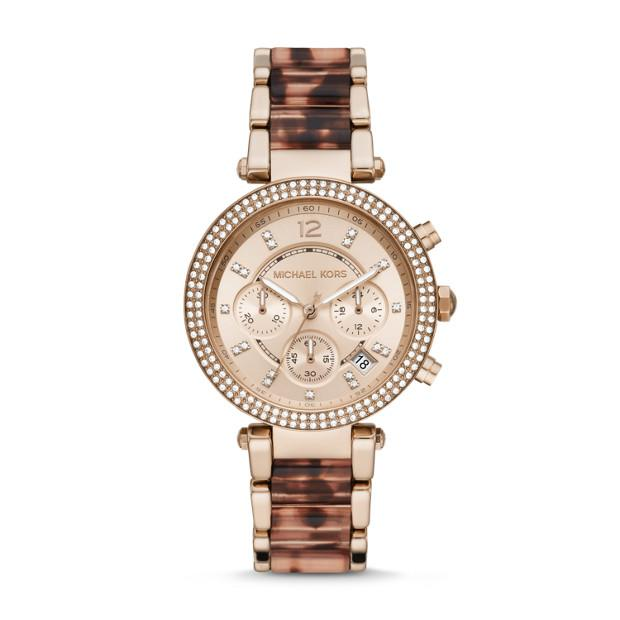 Michael Kors Parker Two Tone Chronograph Watch Watches Michael Kors