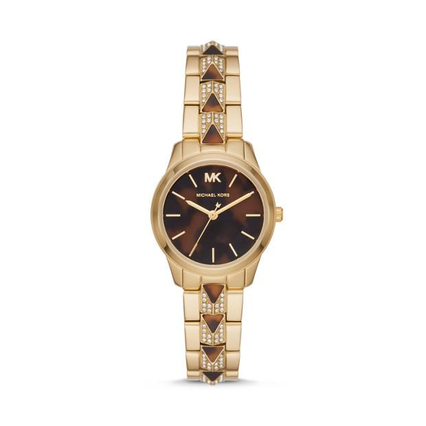 Michael Kors Runway Mercer Two Tone Analogue Watch Watches Michael Kors