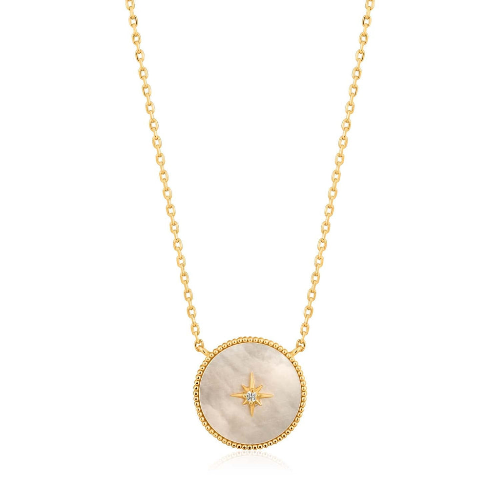 Ania Haie Mother Of Pearl Emblem Necklace - Gold Necklace Ania Haie