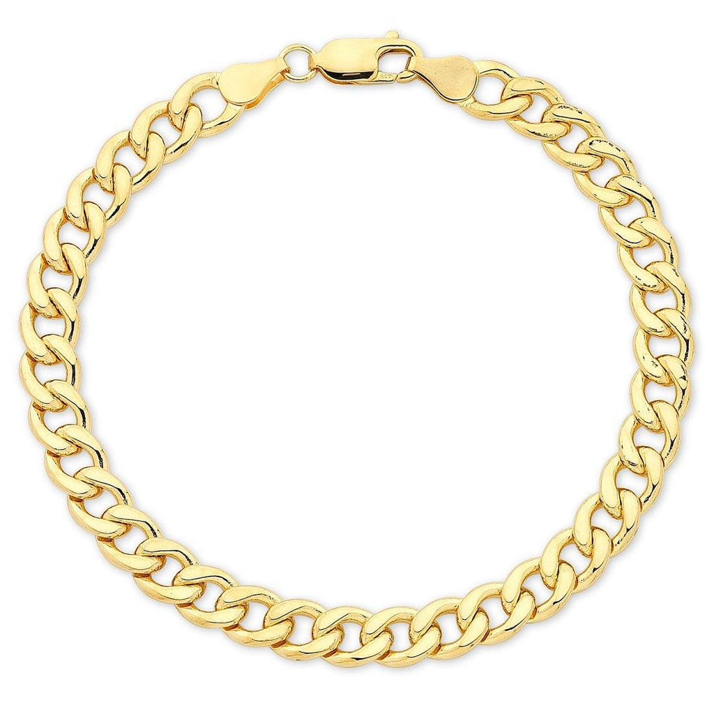 9ct Yellow Gold Solid Curb Bracelet