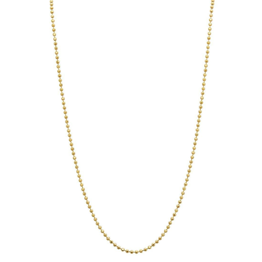 10ct Yellow Gold Bead Chain Necklace 45cm Necklaces Bevilles