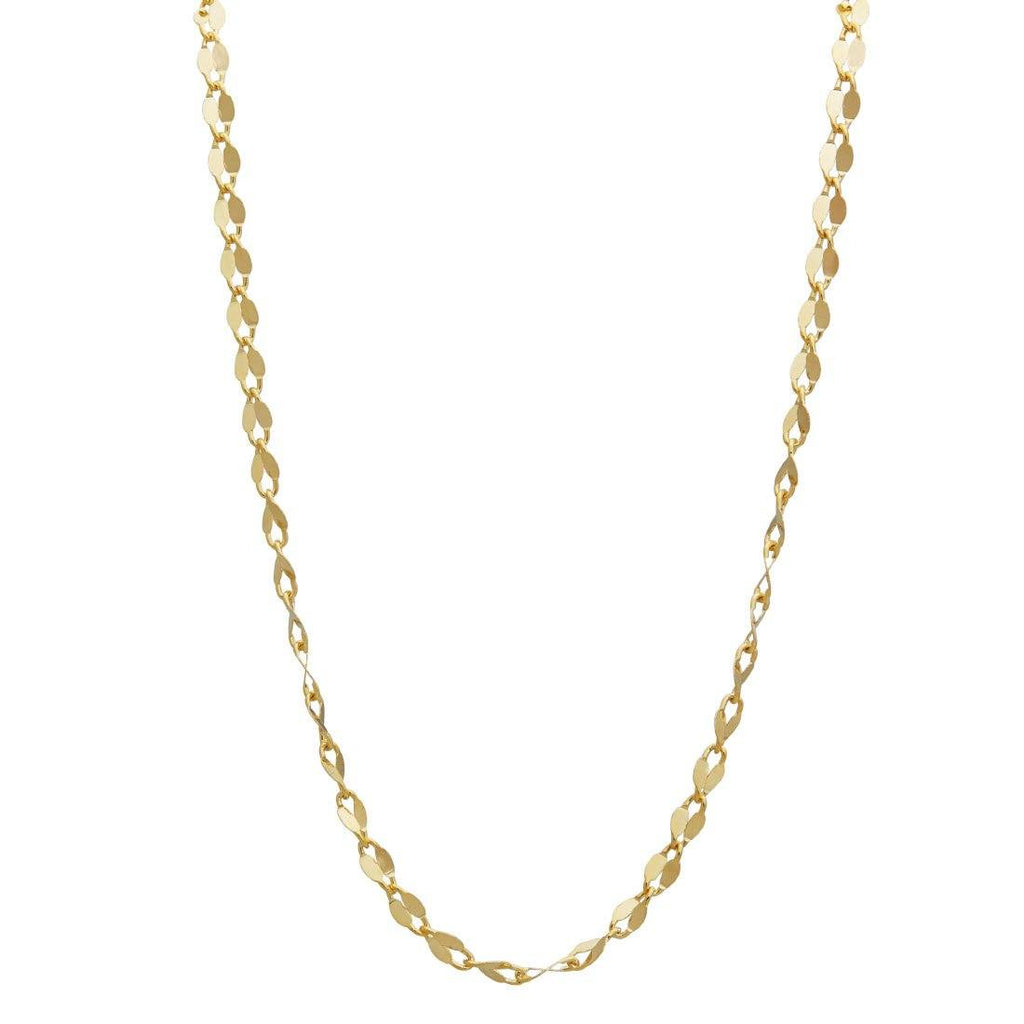 10ct Yellow Gold Oval Cable Chain Necklace 45cm Necklaces Bevilles