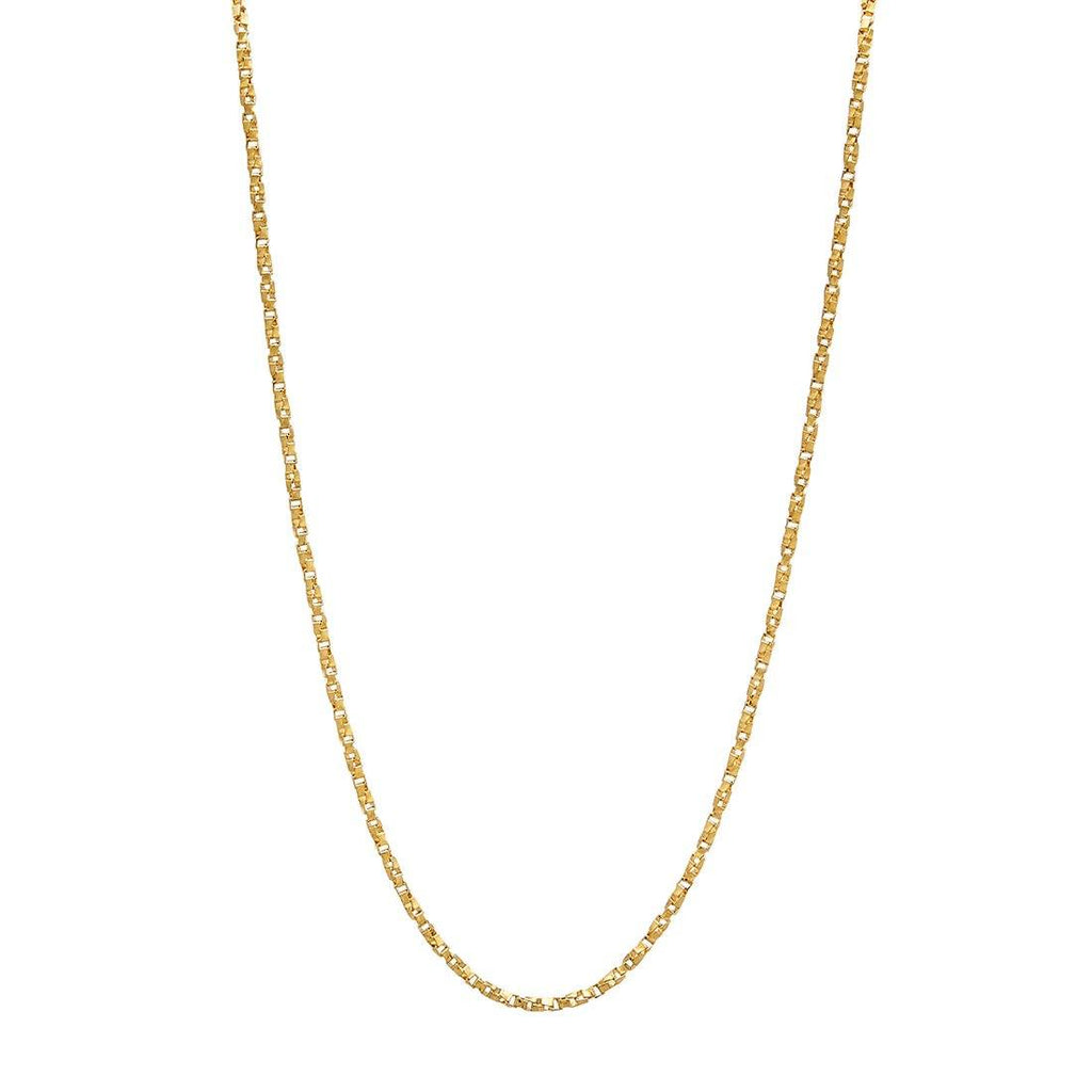 9ct Yellow Gold Box Twist Chain Necklace 45cm Necklaces Bevilles