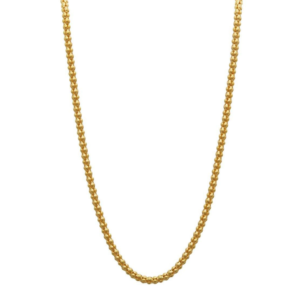 10ct Yellow Gold Popcorn Chain Necklace 45cm Necklaces Bevilles