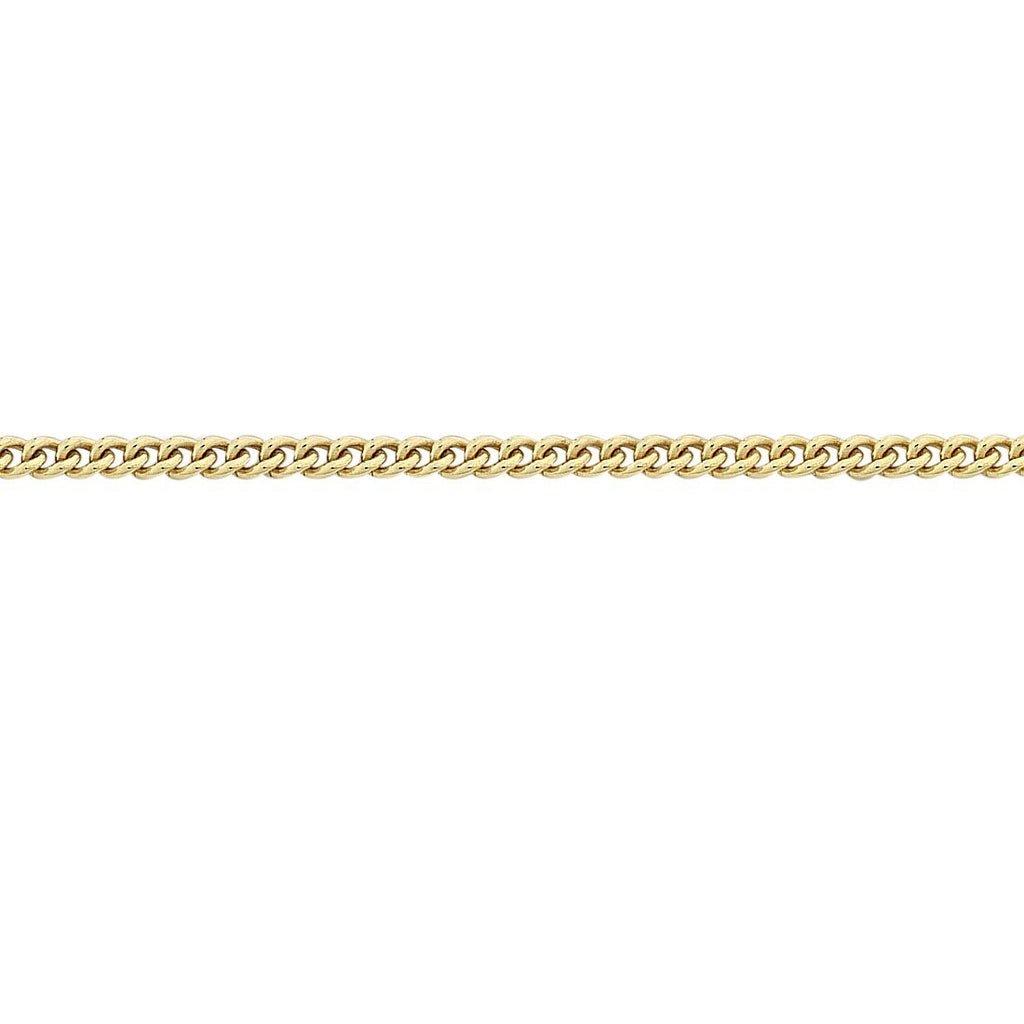 9ct Yellow Gold Curb Necklace 45cm Necklaces Bevilles