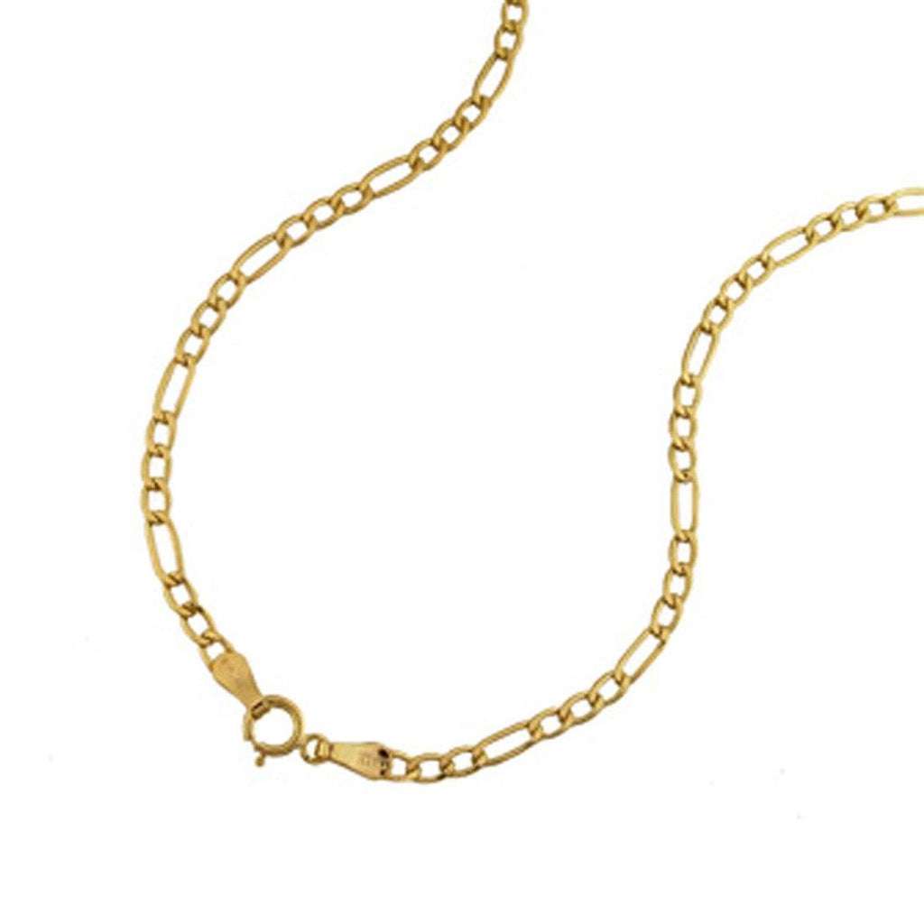 9ct Yellow Gold Figaro Necklace 60cm Necklaces Bevilles