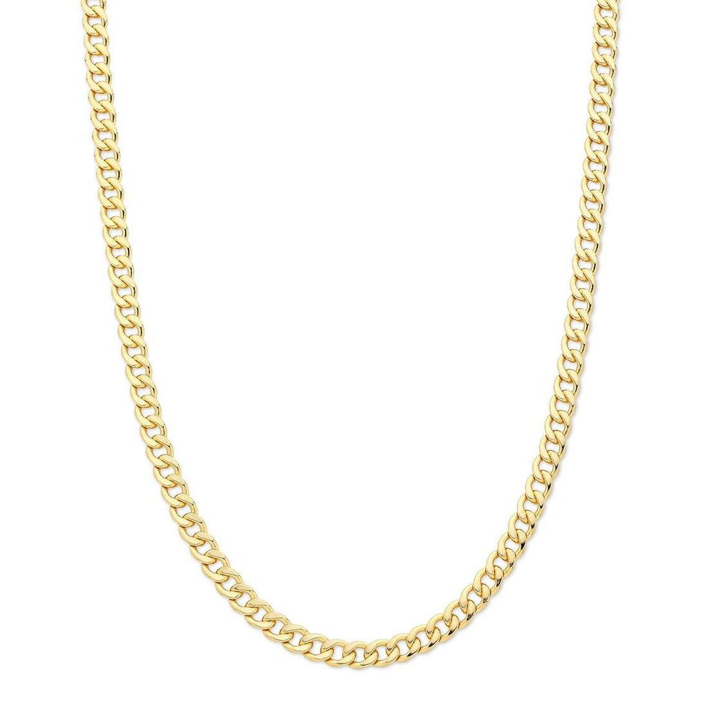 9ct Yellow Gold Solid Curb Necklace