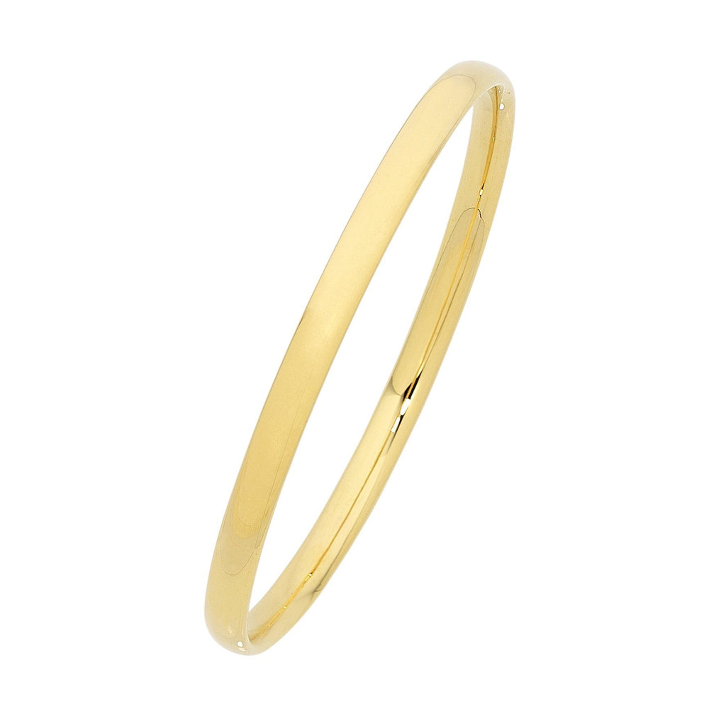 9ct Plain Gold Bangle