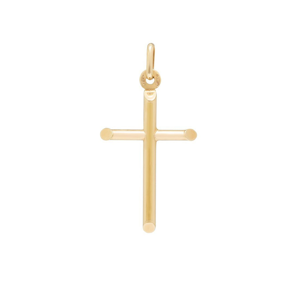 Plain Cross Pendant in 9ct Yellow Gold Necklaces Bevilles