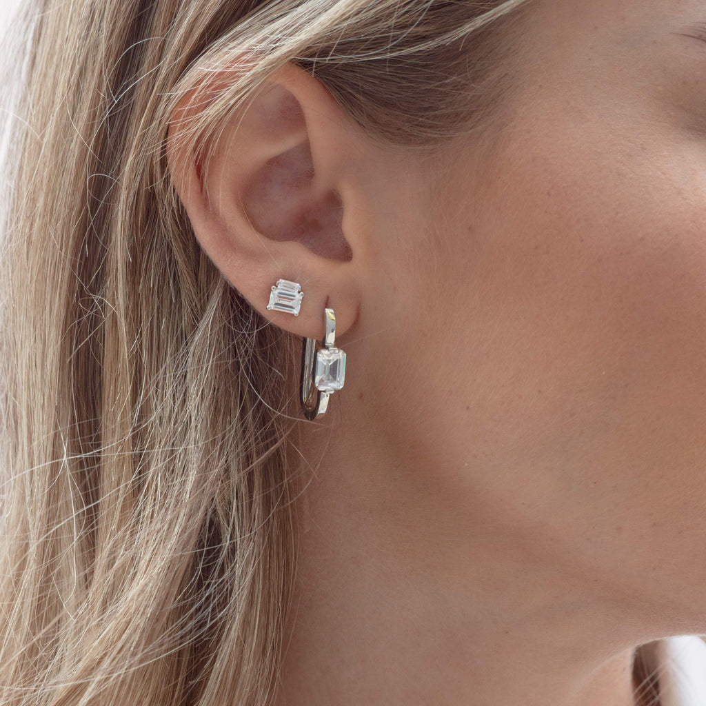 Georgini Emilio Silver Hoop Earrings Earrings Georgini