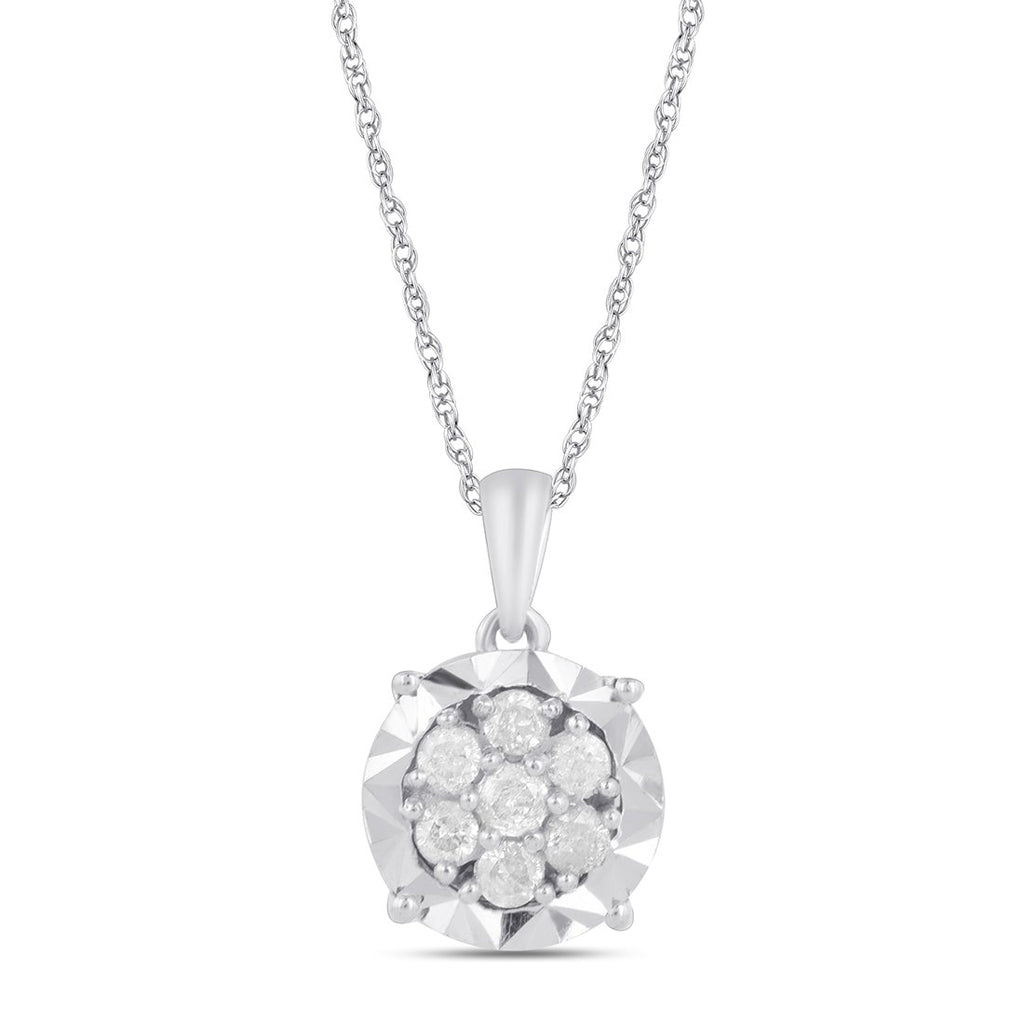 Tia Miracle Composite Necklace with 1/5ct of Diamonds in 9ct White Gold Necklaces Bevilles