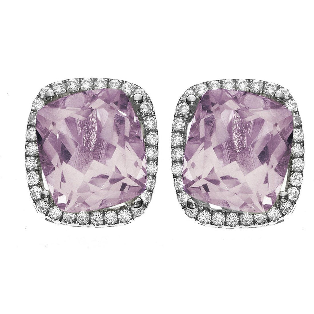 Rebecca Slaone Sterling Silver Amethyst Stud Earrings Default Bevilles