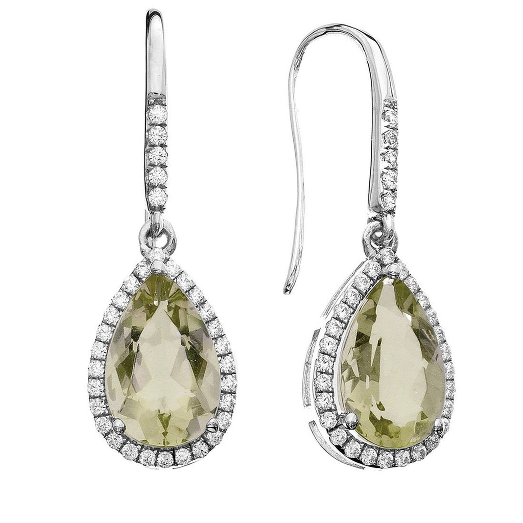 Rebecca Sloane Sterling Silver Lemon Quartz Drop Earrings Default Bevilles