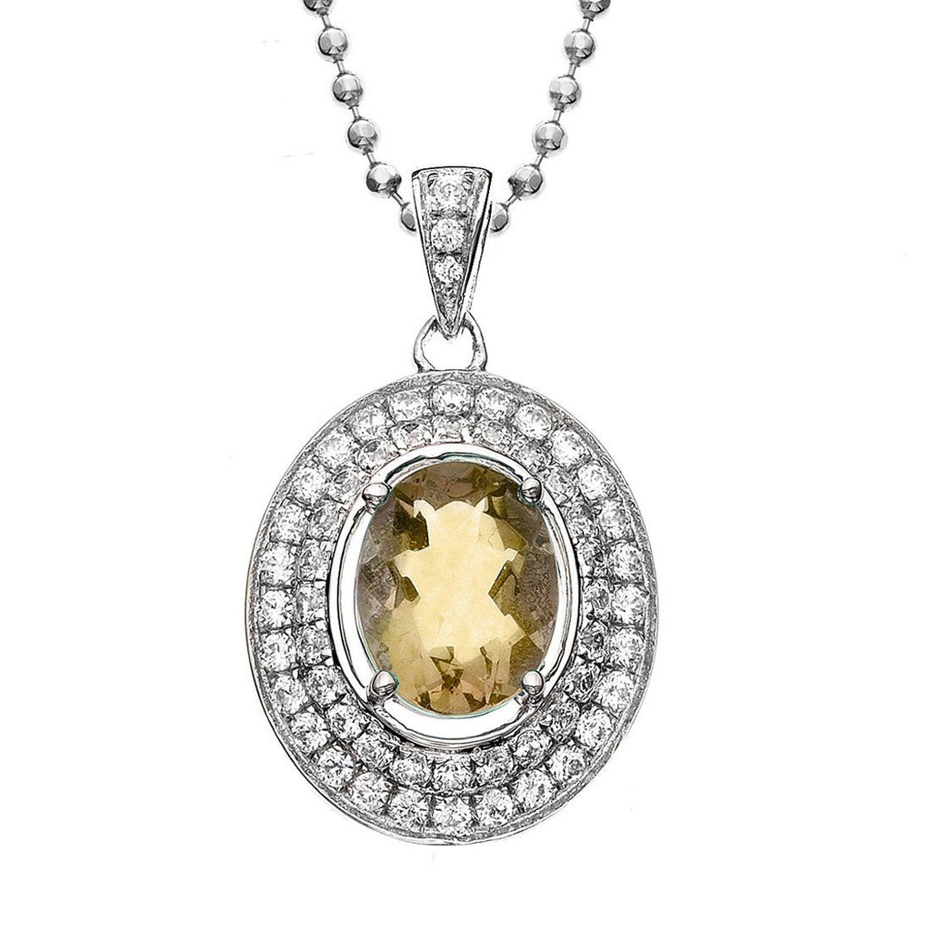 Rebecca Sloane Sterling Silver Citrine Necklace Default Bevilles