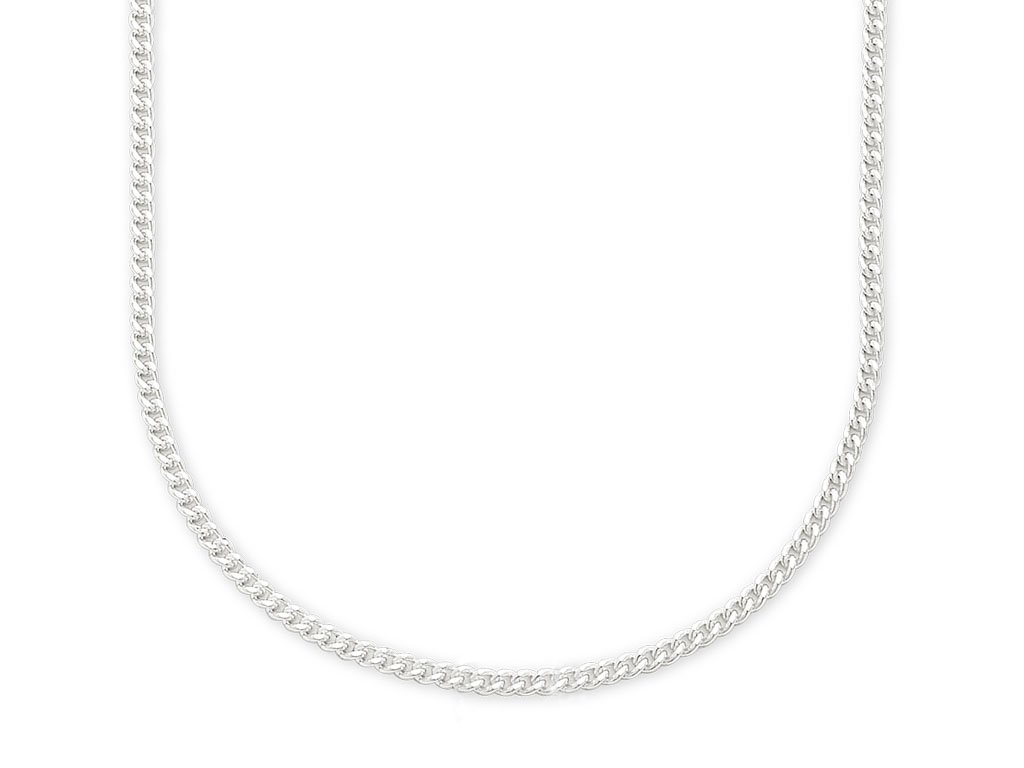 Sterling Silver 40cm Curb Chain Necklaces Bevilles