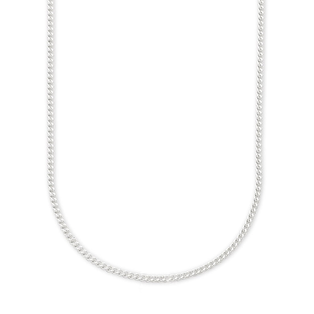 Sterling Silver 50cm Curb Necklace Necklaces Bevilles