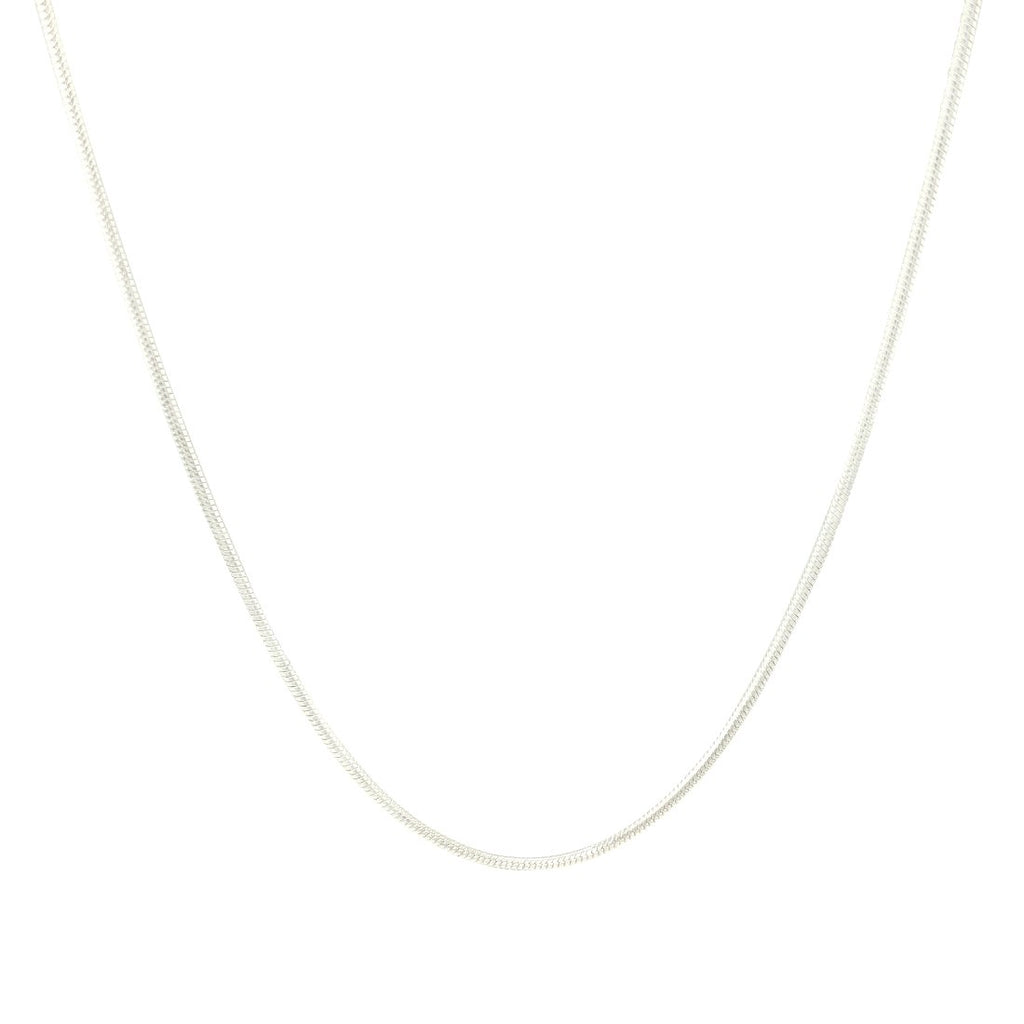 Sterling Silver Snake Chain 50cm Necklaces Bevilles