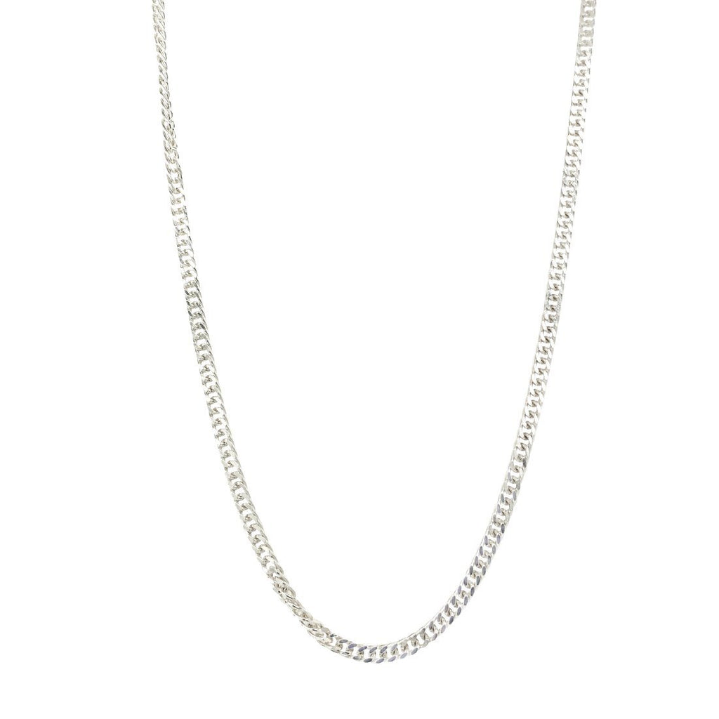 Sterling Silver Tight Curb Necklace 80cm Necklaces Bevilles