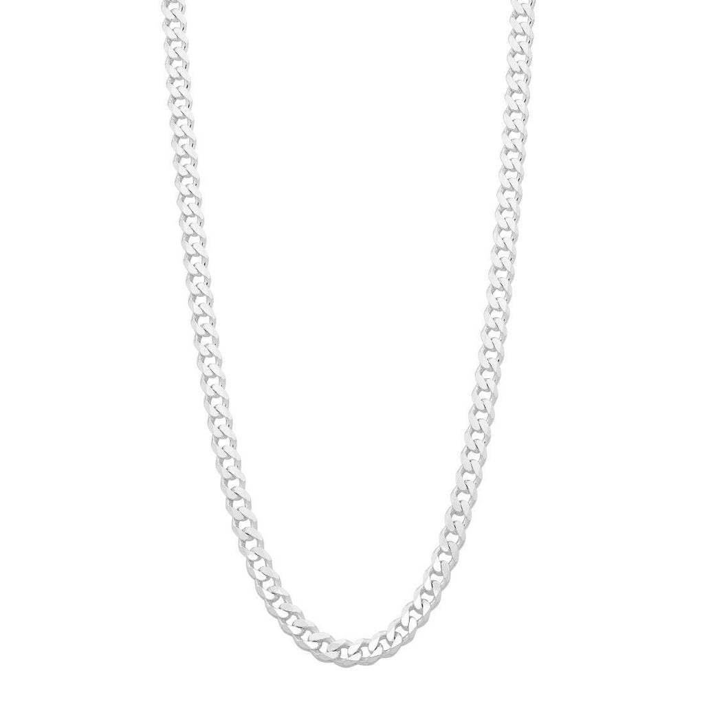 Sterling Silver 50cm Flat Curb Chain Necklace Necklaces Bevilles