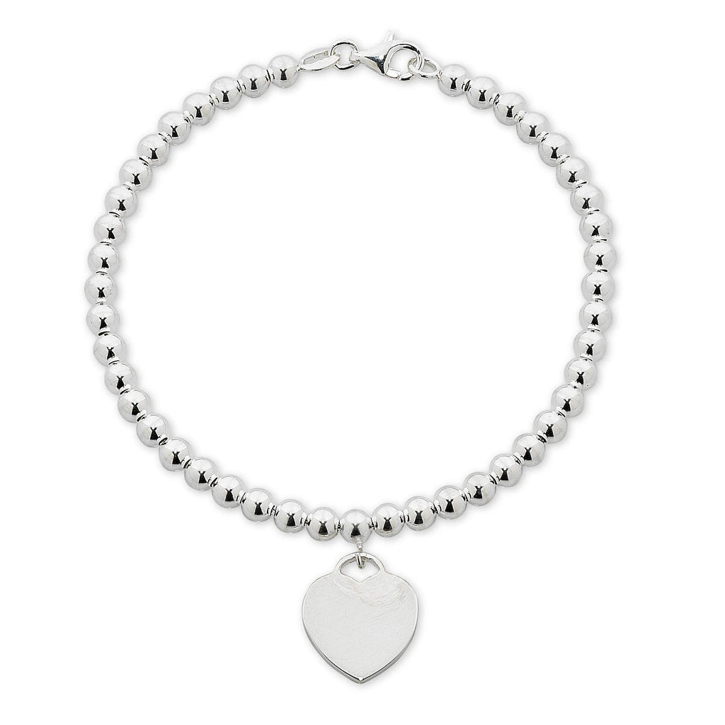 Stainless Steel White Ball Heart Disc Bracelet Bracelets Bevilles