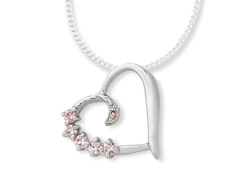 Sterling Silver Cubic Zirconia Necklace Necklaces Bevilles
