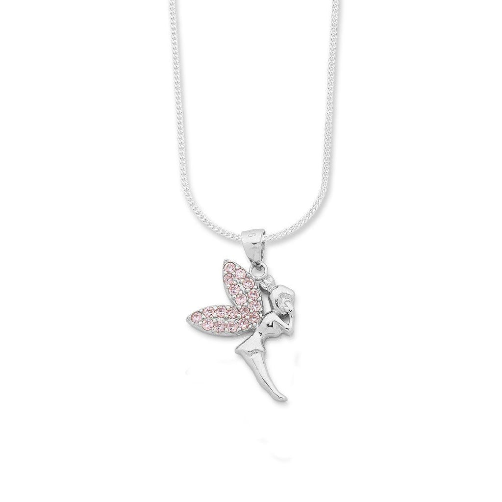 Sterling Silver Cluster Wings Fairy Necklace Necklaces Bevilles