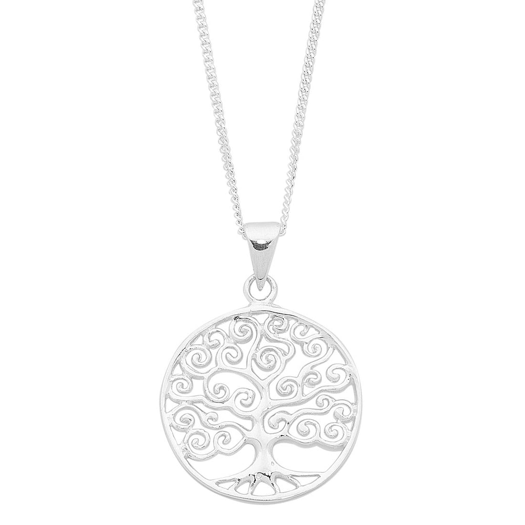 Sterling Silver Filigree Tree of Life Necklace