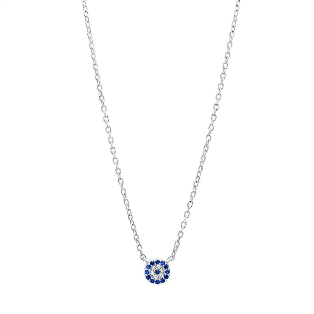 Evil Eye Necklace in Sterling Silver Necklaces Bevilles